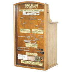 Very Rare 1950s Rawl Plug Sales Cabinet with till Drawers and Display Section