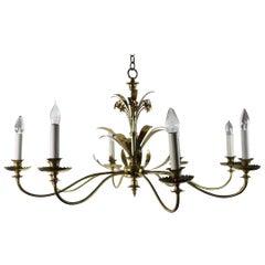 Large Decorative 8-Arm Chandelier by Halcolite