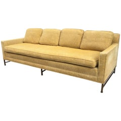 Paul McCobb for Directional Brass Legged Sofa