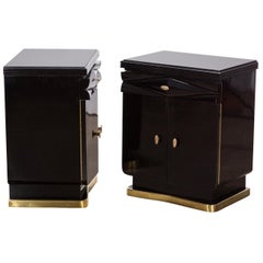 Pair of Antique Italian Art Deco Bedroom Night Stands by Osvaldo Borsani, 1935s