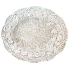 18th Century French Creamware Salt Glaze Tray