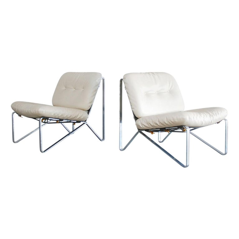 Hartmut Lohmeyer Pair of Lounge Chairs for Mauser Werke Waldeck, 1960 For Sale