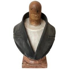 18th Century French Bust, Wood and Marble