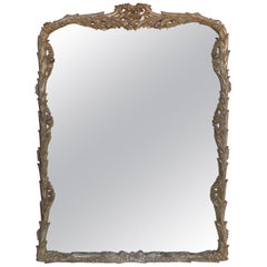 Carved Silver Leaf Mirror