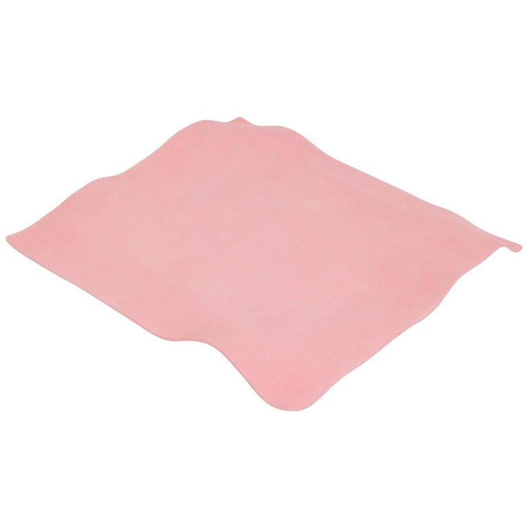 Contemporary Decorative Object, Matte Porcelain, Handmade Pink Paper, in Stock For Sale