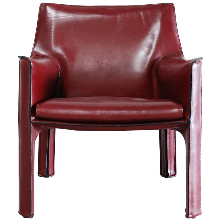 Cassina Cab 414 Leather Lounge Chair Armchair Bordeaux For ...