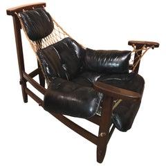 Brazilian Midcentury Gran Captain Jangada Lounge Chair, Jean Gillon, circa 1960