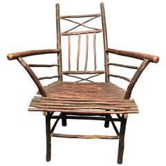 Rustic Hickory Armchair