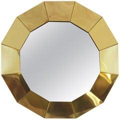 Curtis Jere Geometric Brass Mirror for Artisan House