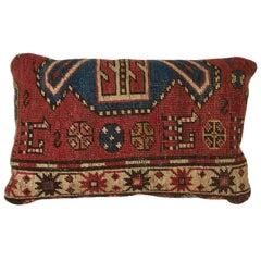 Antique Kazak Carpet Pillow