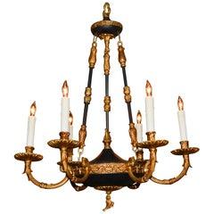 Französischer Empire-Stil Bronze und Feinblech Kronleuchter