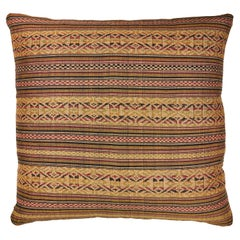 Vintage Laos Brocade Weave Pillow