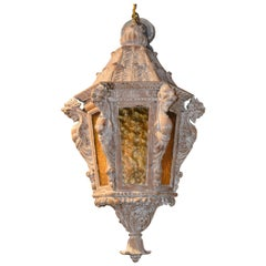 19th Century Italian Carved Lantern