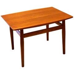 Danish Modern Teak Side Table Designed by Grete Jalk for Glastrup Mobelfabrik