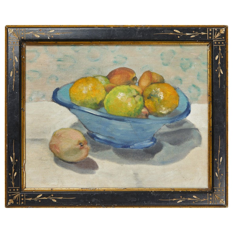 19th Century Still Life Oil on Canvas For Sale