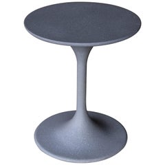 Cast Resin 'Spindle' Side Table, Gray Stone Finish by Zachary A. Design