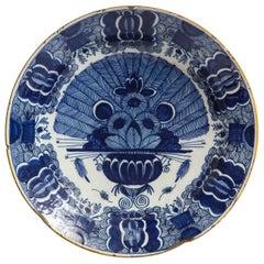 Dutch, Delft, Peacock Pattern Dish, circa 1780