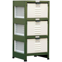 1 x 3 Locker Basket Unit, Vintage Inspired and Newly Fabricated to Order