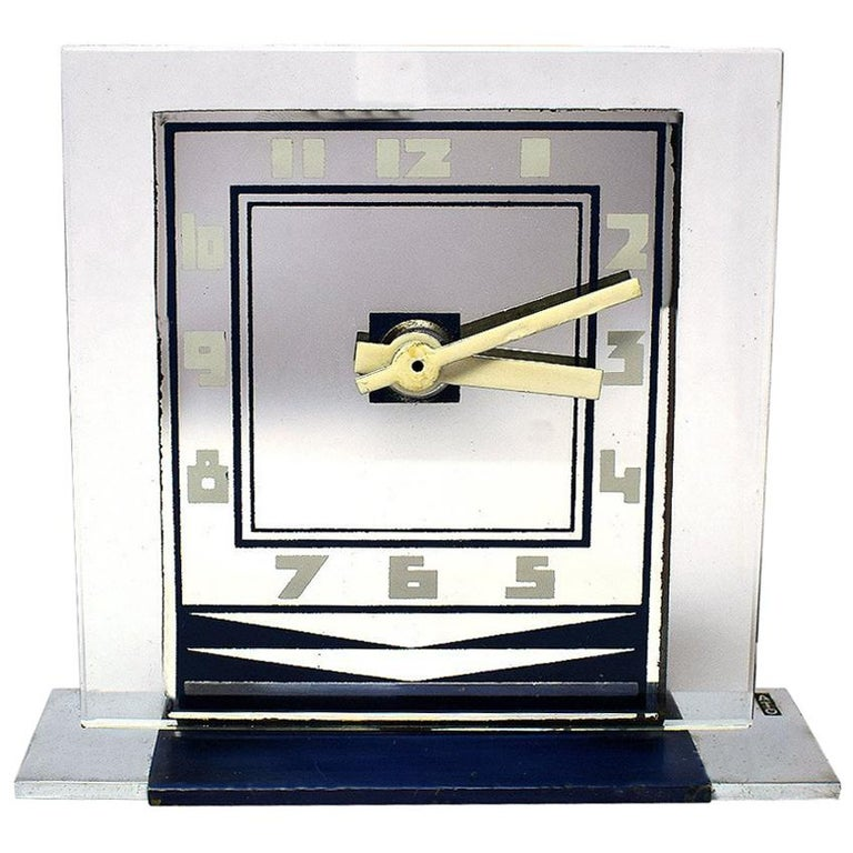 Rare 1930s Art Deco Modernist Alarm Clock by ATO For Sale