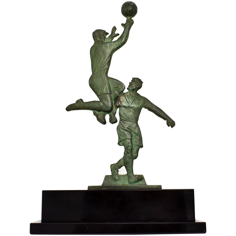 Art Deco Football Trophy, France, circa 1930