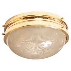 1960s Sergio Mazza Brass 'Sigma' Wall or Ceiling Lights for Artemide