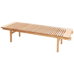 Rare Bench by Hans Wegner for Johannes Hansen in Ash, Denmark, 1950s