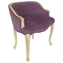 Louis XV Style Painted Vanity Stool Upholstered in Donghia Fabric