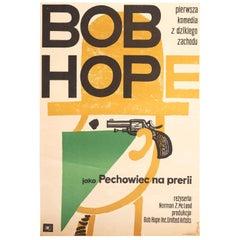 Vintage Polish Bob Hope Poster by Jerzy Flisak for CWF, 1963