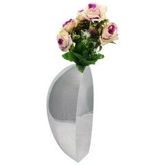 20th Century Futurist Silver Sail Flower Vase by Luigi Diani Milan Italy, 1920s