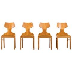 Retro Chairs Scandinavian Design 1960s by Alphons Loebenstein