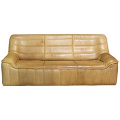 De Sede Sofa Model Ds84, Brown Leather, Switzerland, Swiss Made, 1970s