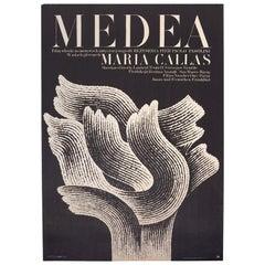 Vintage Polish Medea Poster by Andrzej Bertrandt for CWF, 1970
