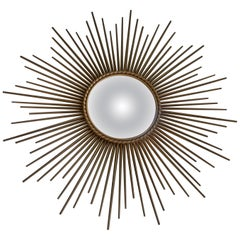 Large Concave Chaty Vallauris Sunburst Mirror