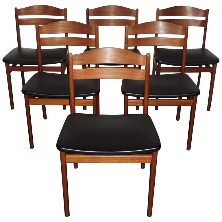 Scandinavian Dining Room Chairs: Set Of 6 Scandinavian Boltinge Mobelfabrik Dining Chairs