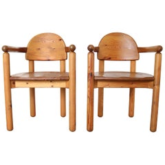 Set of 2 Dining Armchairs in Solid Pinewood by Rainer Daumiller for Hirtshals