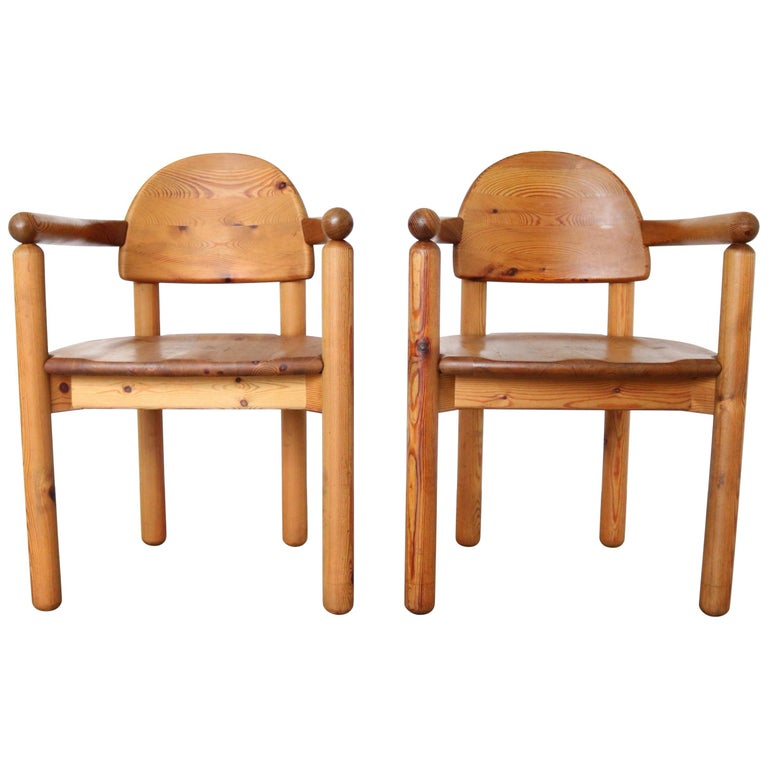 Set of 2 Dining Armchairs in Solid Pinewood by Rainer Daumiller for Hirtshals For Sale