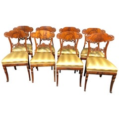19th Century Biedermeier Mahogany Chairs, 1890s