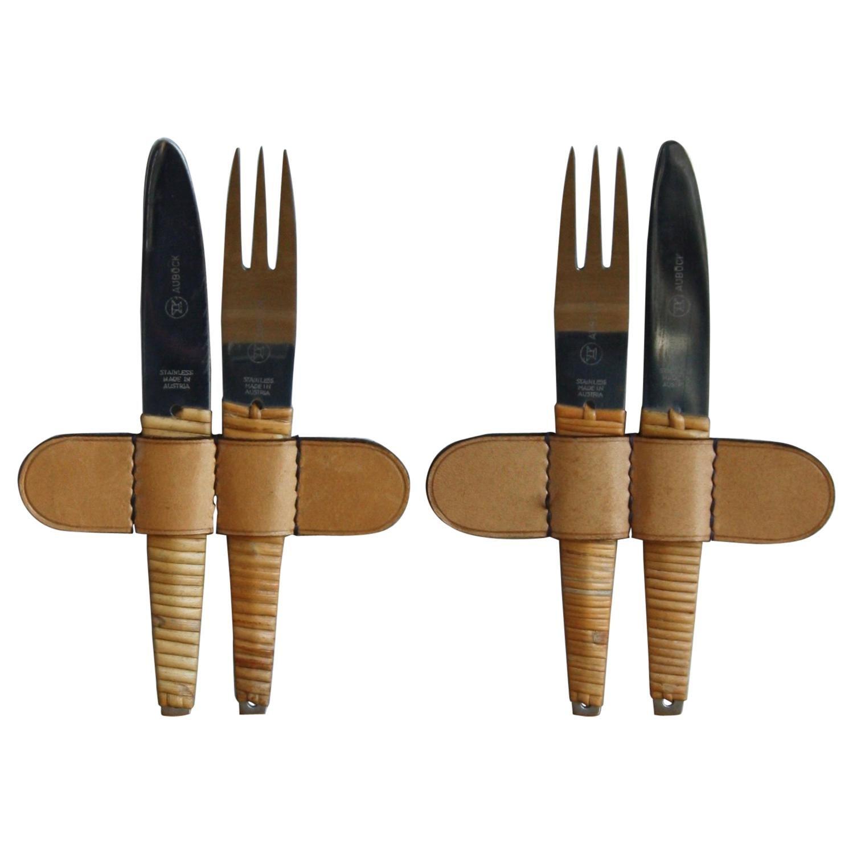 Vintage 1950s Two Sets of Knives and Forks Carl Auböck