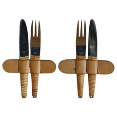 Vintage 1950s Two Sets of Knives and Forks Carl Auböck