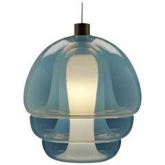 Carlo Nason Opalescent Glass Pendant by Mazzega, Murano