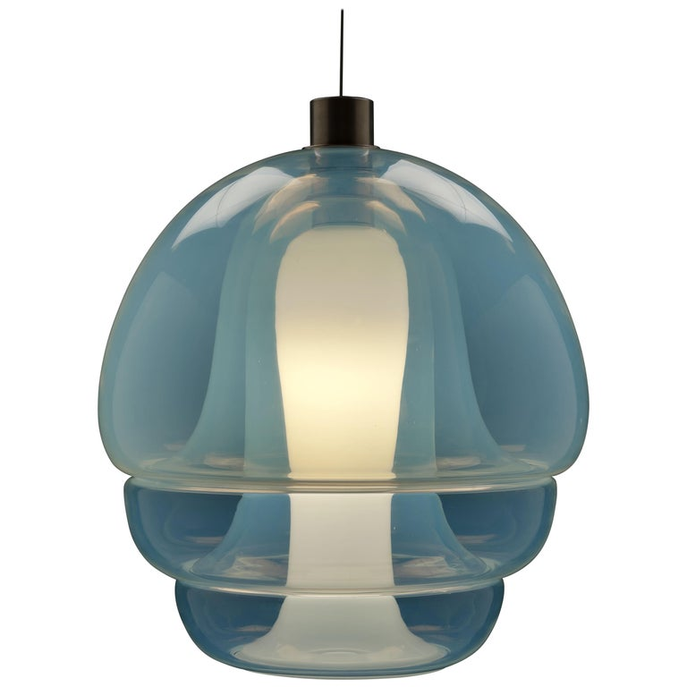 Carlo Nason Opalescent Glass Pendant by Mazzega, Murano For Sale