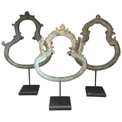 Set of 3 Khmer Bronze Palanquin