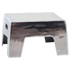 Alu Side Table in Polished Aluminium Indoor Outdoor