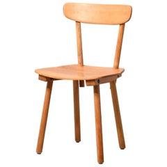 Wooden Chair by Jacob Müller for Wohnhilfe Zurich, 1940s, Switzerland
