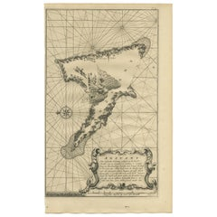 Antique Map of Anjouan Island by Valentijn, 1726