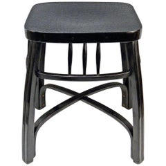 Jacob & Josef Kohn Art Nouveau Vienna Piano Stool Model 616 Beech Black