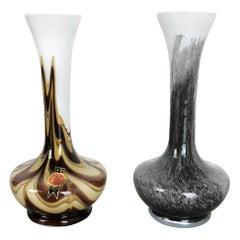 Set of 2 Vintage Pop Art Opaline Florence Vase Design, Italy, 1970s