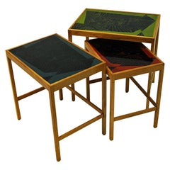David Rosèn Vintage Futura Insert tables of three pcs 1953, Sweden