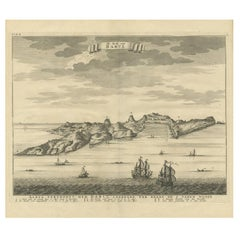 Antique Print of the Coast of Dabhol 'India' by Valentijn, 1726