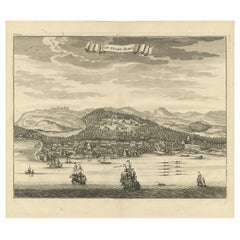 Antique Print of the City of Dabhol 'India' by Valentijn '1726'